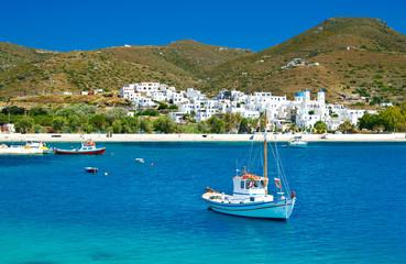 Katapola bay on Amorgos island, Cyclades, Greece
