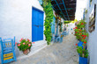 Traditional greek colours, architectural detail