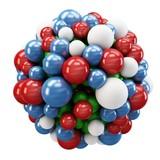 Fototapety 3d cluster of spheres