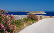 Landscape of small Cyclades islands in Greece