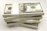 illustration of 3d image of bundle of dollar note