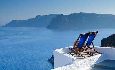 Relaxing in Santorini, Cyclades, Greece