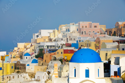 Foto op Canvas Oia village on Santorini island, Cyclades, Greece