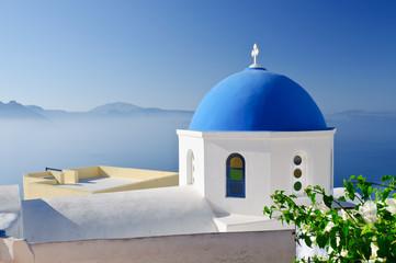 Orthodox church in Oia, Santorini, Greece