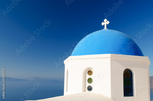 Greek orthodox church dome, Santorini