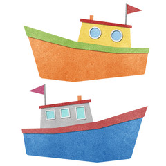 Boat made from recycled paper