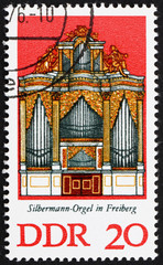 Postage stamp GDR 1976 Silbermann Organ, Freiberg Cathedral, Sax