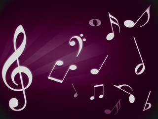 Purple music background