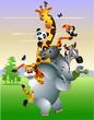 Wild African animal cartoon
