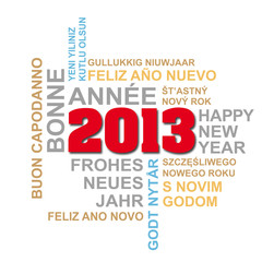 internationale Neujahrsgrüße