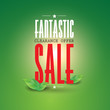 Fantastic clearance offer sale - green leaves
