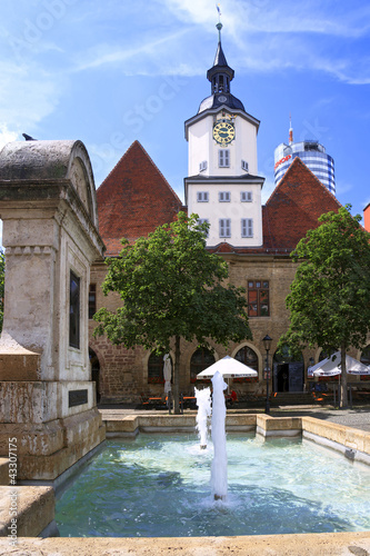 Leinwanddruck Bild Jenaer Rathaus
