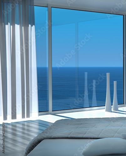 Extravagant Exclusive Design Bedroom with Ocean View