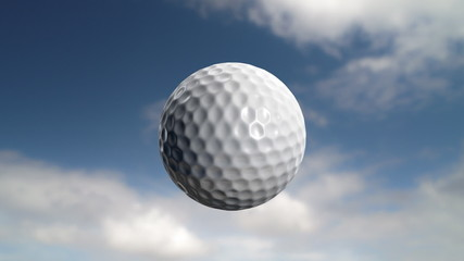 Golf ball flies at the camera then stops.