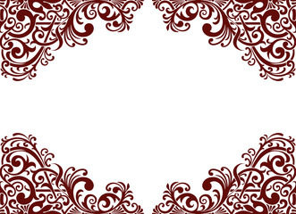 Vector vintage pattern border frame card background