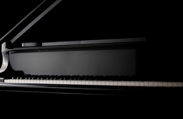 classic piano close up
