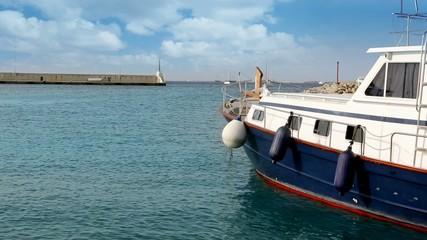 Balearic island of Formetera marina port with yachts