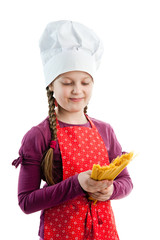 Girl with pasta