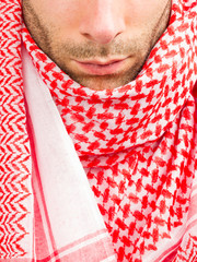Close-up of an Arab adult