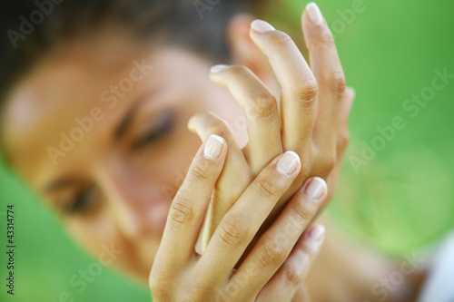 Woman showing her beautiful hands