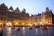 Brussels - The main square and Town hall in evening