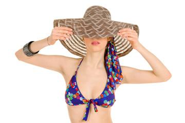Woman in Bikini with hat