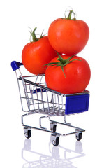 tomatoes in the cart