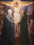 Gent - Crucifixion paint - st. Peter s church