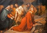 Brussels - Jesus under cross.