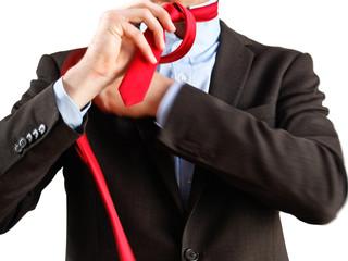 Krawattenknoten binden