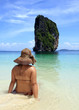 woman relaxing in Poda Island in Thailand