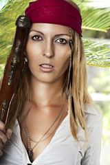 sexy woman in pirate style