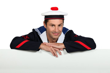 Man wearing sailor uniform