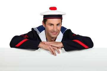 Man wearing sailor uniform