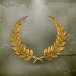 Laurel Wreath Gold, old-style