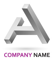 3d logo design element - letter A