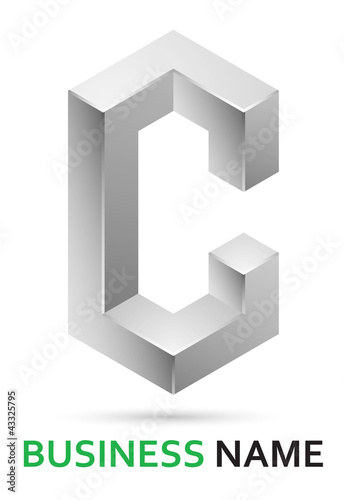 Z 3d Logo Design 3d alphabet logo design - letter C by tomo, Royalty free vectors ...