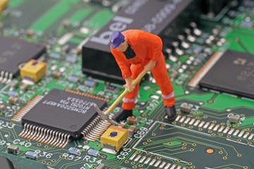 arbeiter in computer