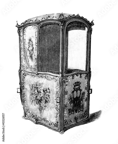 Sedan Chair - Chaise à Porteurs - 18th century