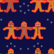 Gingerbread man repeating background