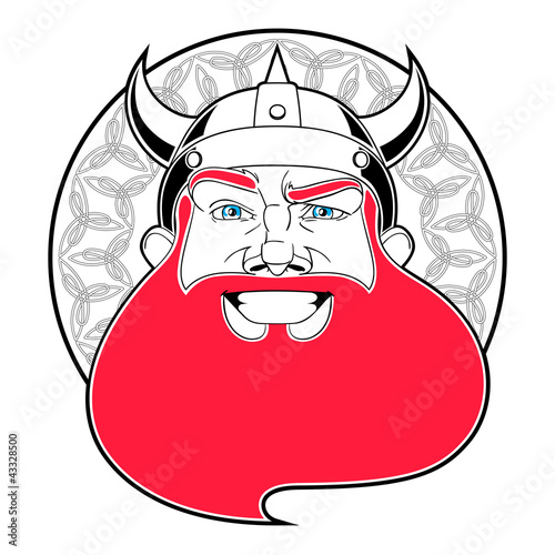 Happy Viking man