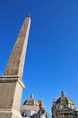 Roma, piazza del Popolo - Obelisco Flaminio