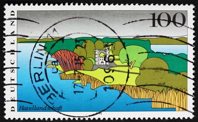 Postage stamp Germany 1995 Havel River, Berlin, Landscape
