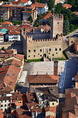 marostica piazza castello inferiore panorama provincia di vicenz