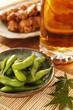 枝豆とビールと焼き鳥