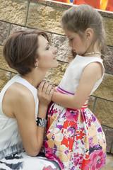 Mum consoles the daughter