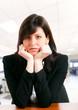 Bored businesswoman portrait