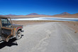 offroad car in the bolivian desert