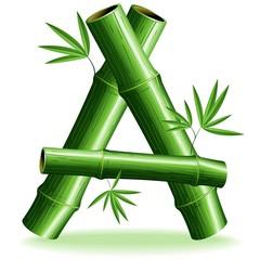 Bambù Lettera A - Bamboo Logo Sign Letter A - Vector