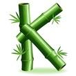Bambù Lettera K-Bamboo Logo Sign Letter K-Vector